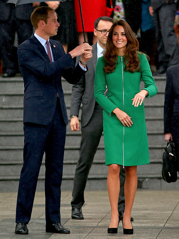 Kate Middleton New Zealand Green Coat