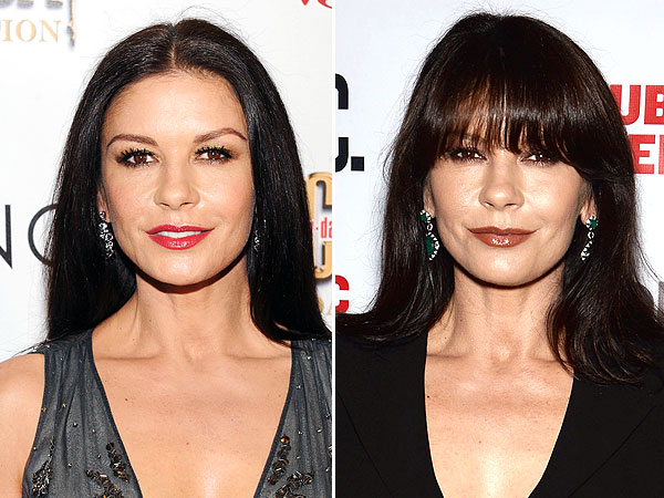 Catherine Zeta Jones bangs