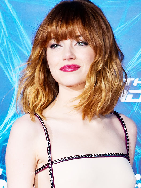 Emma Stone Spider-Man hair and makeup