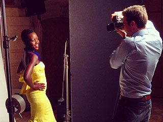 The Dresses! The Jewels! Behind the Scenes of Lupita's 'Most Beautiful' Cover Shoot
