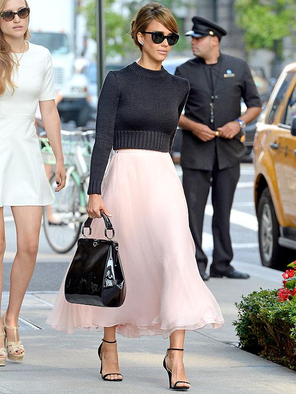Jessica Alba Ralph Lauren skirt