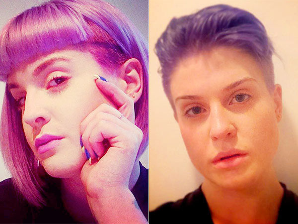kelly osbourne shaves her head