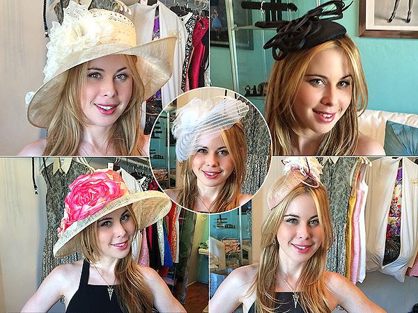 Tara Lipinski Kentucky Derby hats