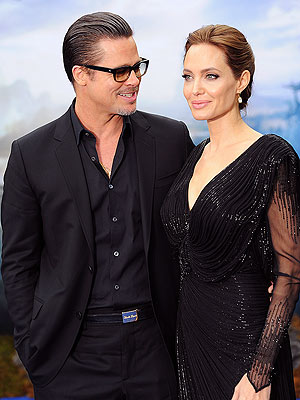 Brad Pitt Joins Angelina Jolie at Maleficent Event in London
