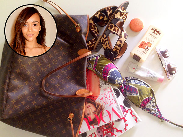 Ashley Madekwe beach bag