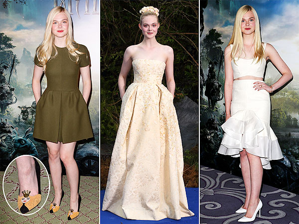 Elle Fanning Maleficent tour