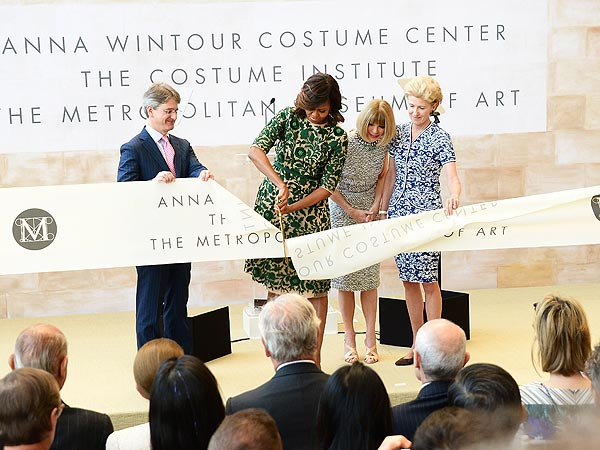 Michelle Obama ribbon cutting