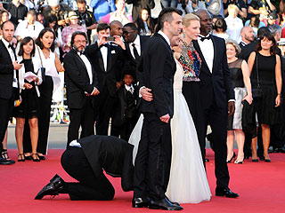 Cannes Scandal: Prankster Tries to Crawl Under America Ferrera's Red Carpet Gown