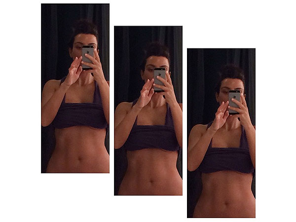 Kim Kardashian abs
