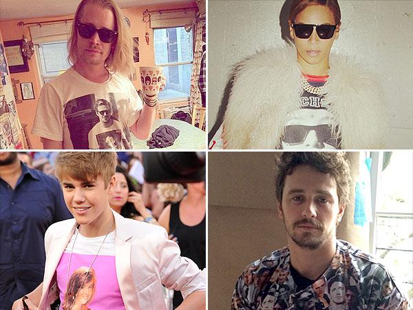 Stars wearing shirts