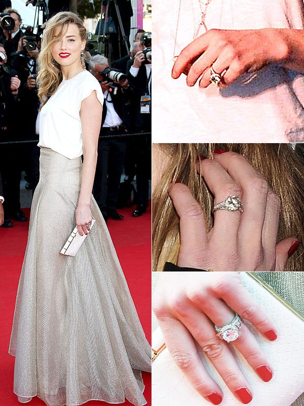 Amber Heard engagement ring