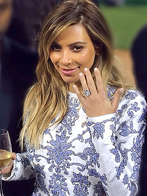 Kim Kardashain Kanye West wedding ring