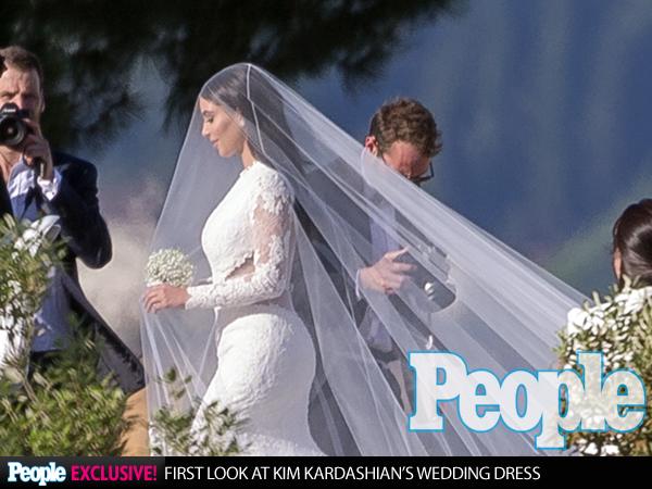 Kim Kardashian Kanye West Wedding Givenchy