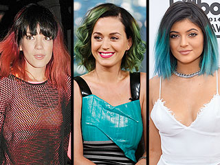 Lily Allen Dyes Her Hair Red – and Joins the Celeb 'Dark Roots, Neon Ends' Club | StyleWatch, Katy Perry, Kylie Jenner, Lily Allen