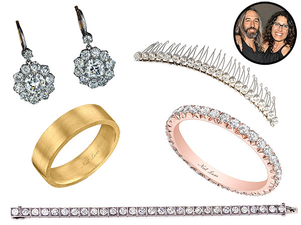 Lisa Edelstein wedding jewelry