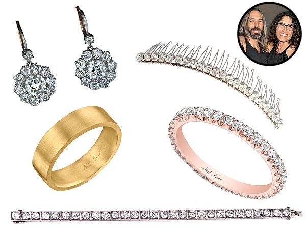 Lisa Edelstein wedding jewelry