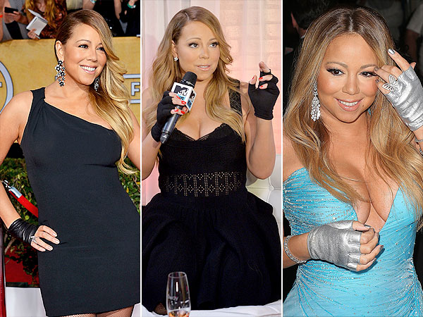 Mariah Carey gloves
