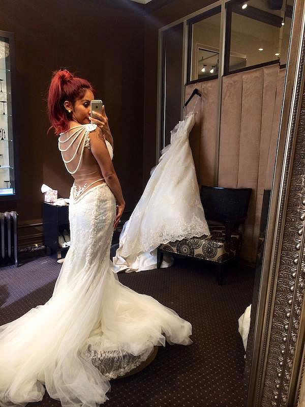 Snooki wedding dress