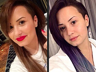 Demi Lovato Dyes Her Hair Purple and Silver (PHOTOS) | Demi Lovato