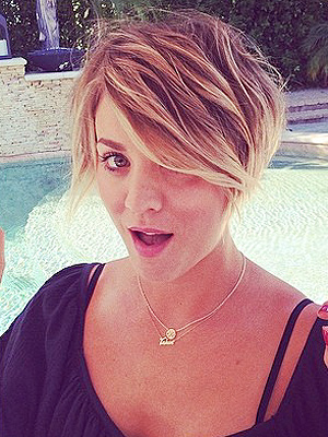 kaley cuoco short hair 2014