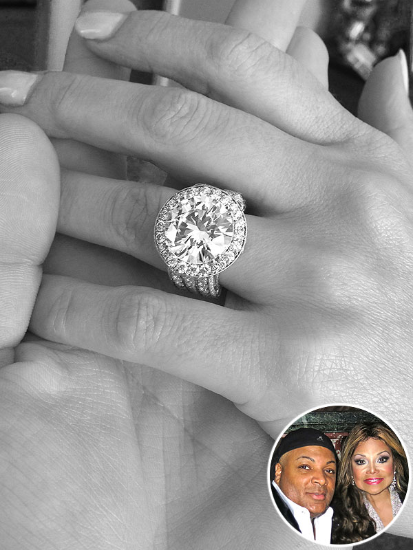 La Toya JAckson engagement ring photo