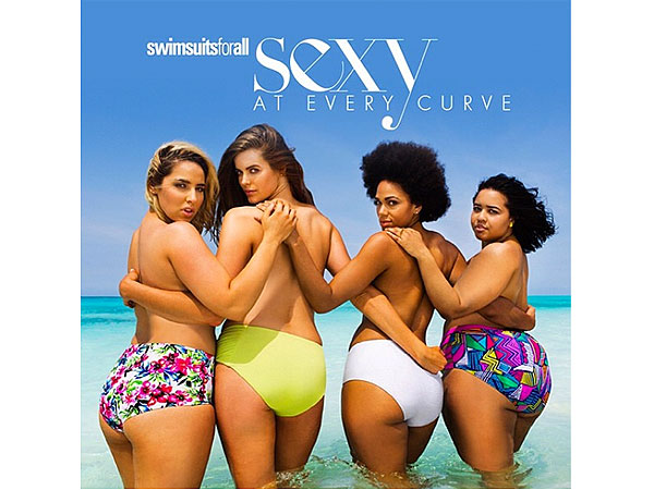 Plus Size Swimsuit models Jada Sezer, Shareefa J, Robyn Lawley and Gabi Gregg
