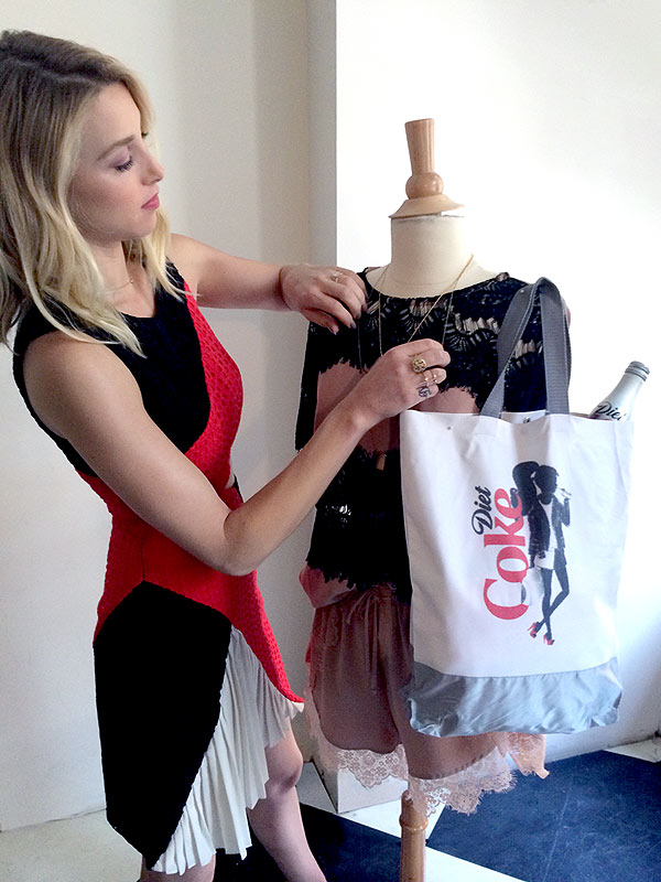 Whitney Port Diet Coke bags
