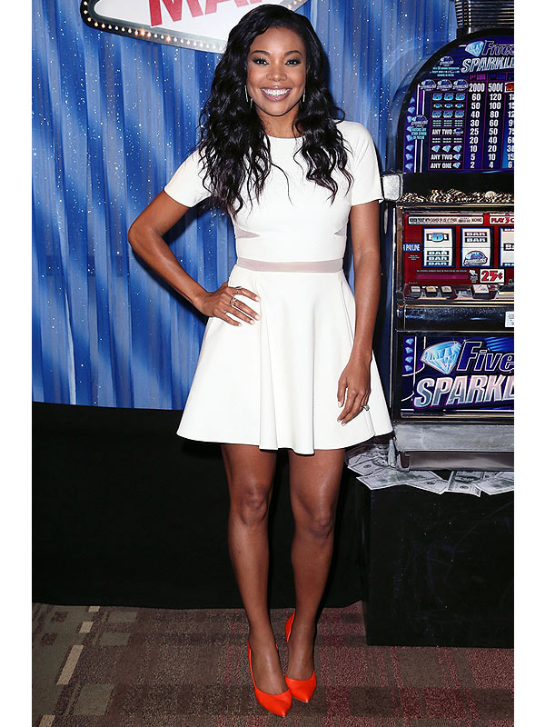 Gabrielle Union White Dress