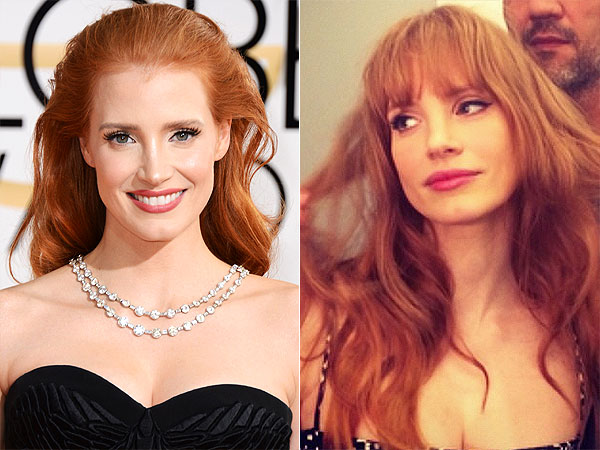 Jessica Chastain bangs photos