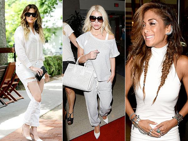 Khloe Kardashian Shredded jeans