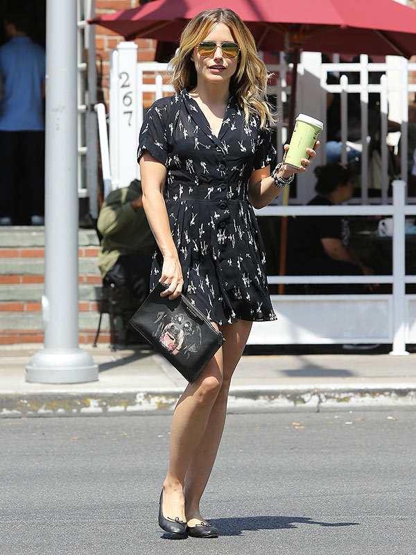 Sophia Bush black print dress