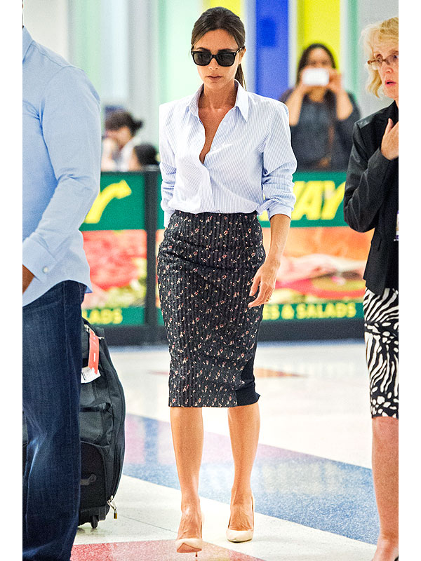 Victoria Beckham printed pencil skirt
