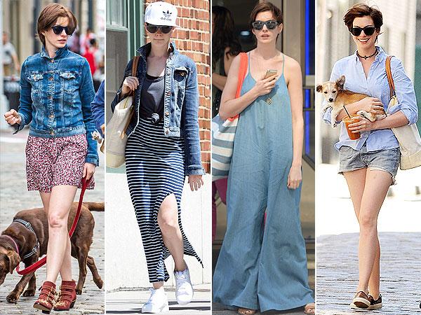 Anne Hathaway weekend style