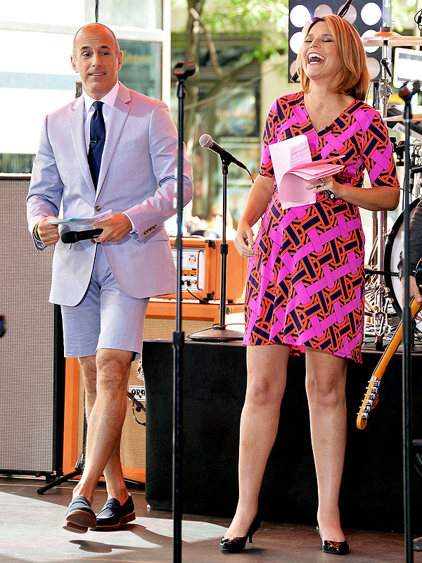 Matt Lauer shorts suit