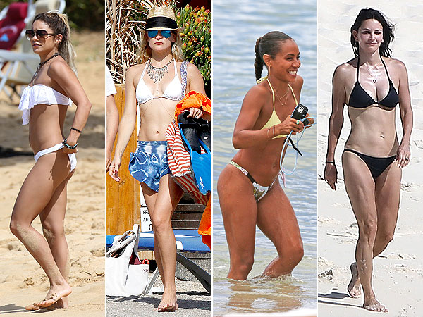 Vanessa Hudgens, Kate Hudson, Jada Pinkett Smith, Courteney Cox bikini photos