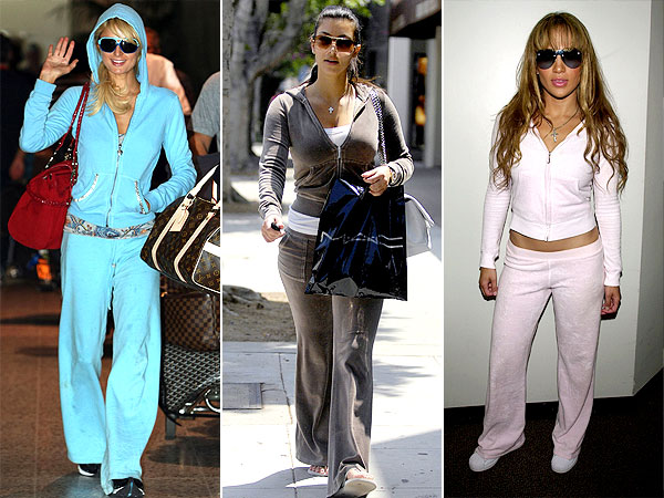 Celebs in tracksuits