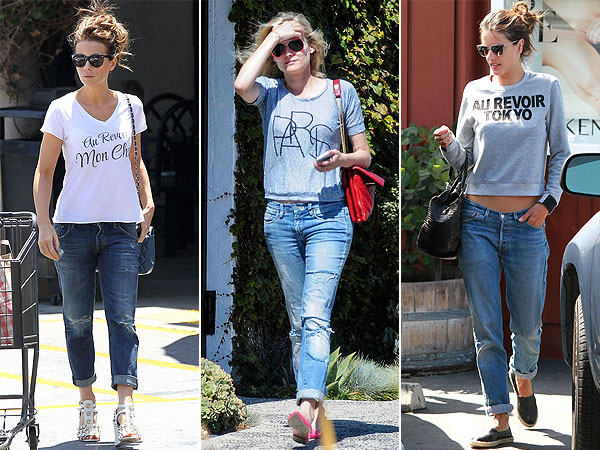 French-inspired celeb tees