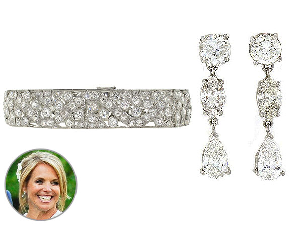 Katie Couric Wedding Jewelry