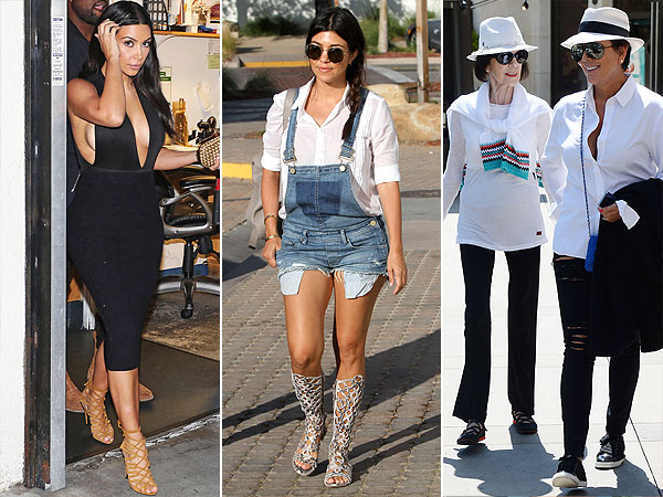 Kim Kardashian, Kourtney Kardashian and Kris Jenner style