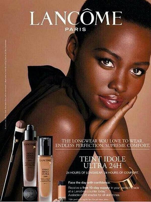 Lupita Nyong'o Lancome Ad
