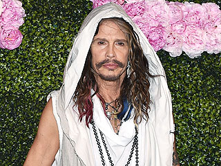 Steven Tyler Wears Rainbow Extensions, Maxidress and More to Milan Fashion Week