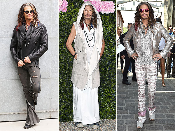 Steven Tyler Milan men's fashion week