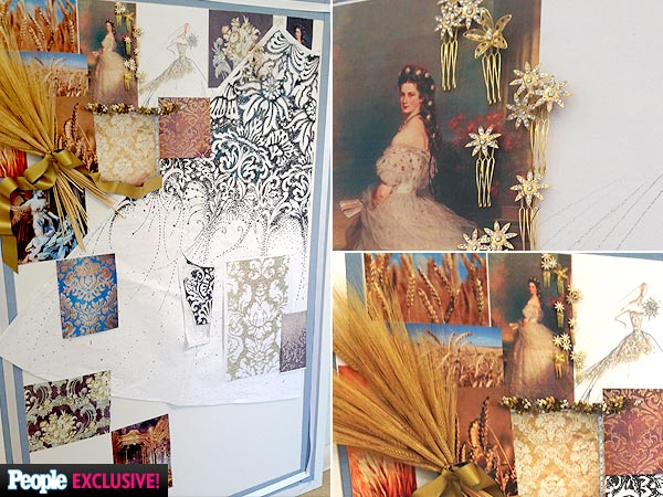 style jessica simpsons wedding dress exclusive gorgeous sketch inspiration board
