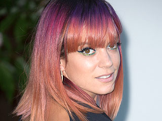 PHOTO: Lily Allen's New Hair Is Purple. And Pink. And Orange. And Red.