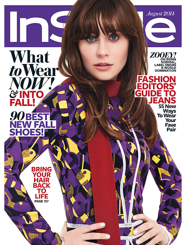 Zooey Deschanel InStyle Cover