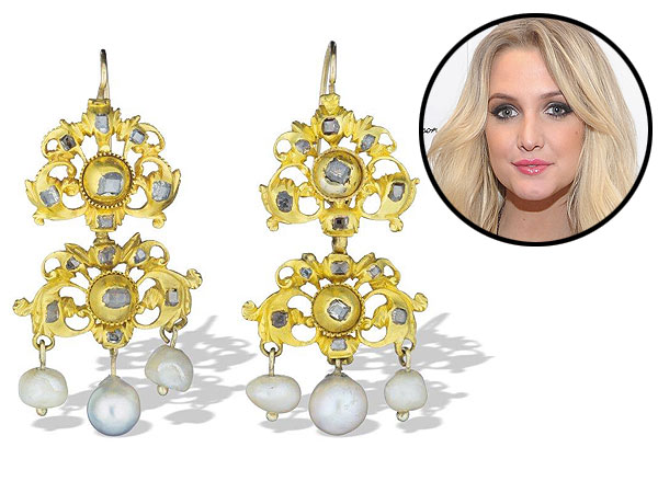 Ashlee Simpson Wedding earrings