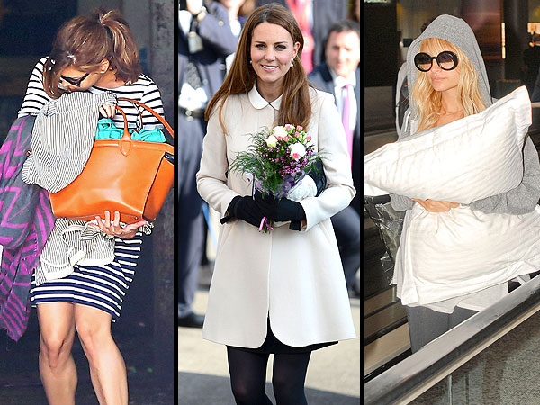 Handbags! Puppies! Pillows! See How Celebs Hid Their Burgeoning Baby Bumps