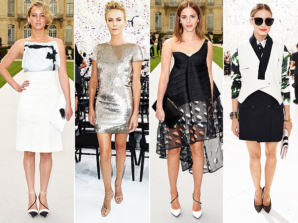Jennifer Lawrence, Charlize Theron, Emma Watson and Olivia Palermo Dior Show Paris