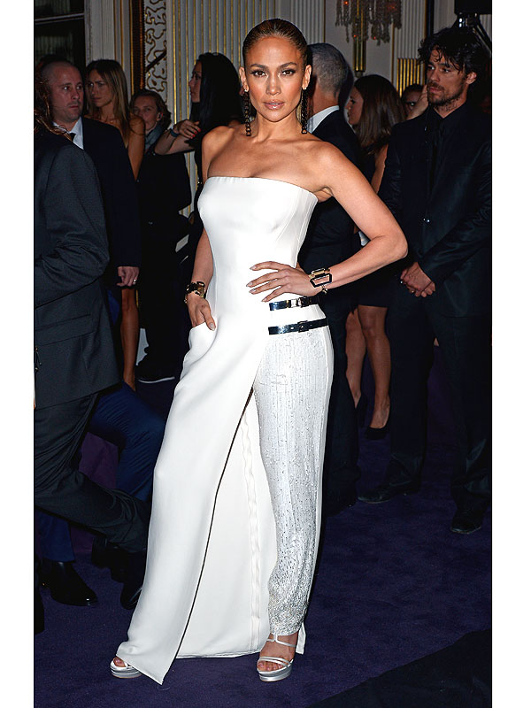 Jennifer Lopez pants/dress hybrid