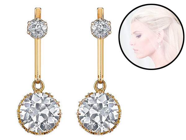 Jessica Simpson wedding earrings